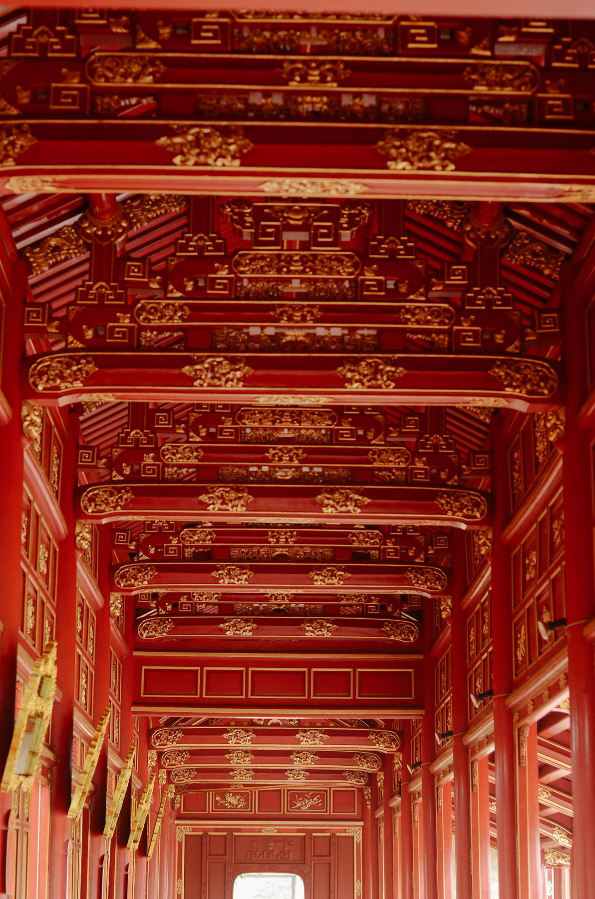 The interiors are slowly and painstakingly being restored, using traditional techniques